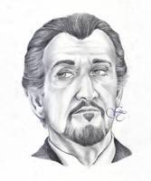 Roger Delgado as the Master by Giu-sama
