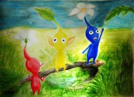 Watercolor practice - Pikmin