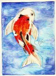 Watercolor practice 3 - Koi by Giu-sama