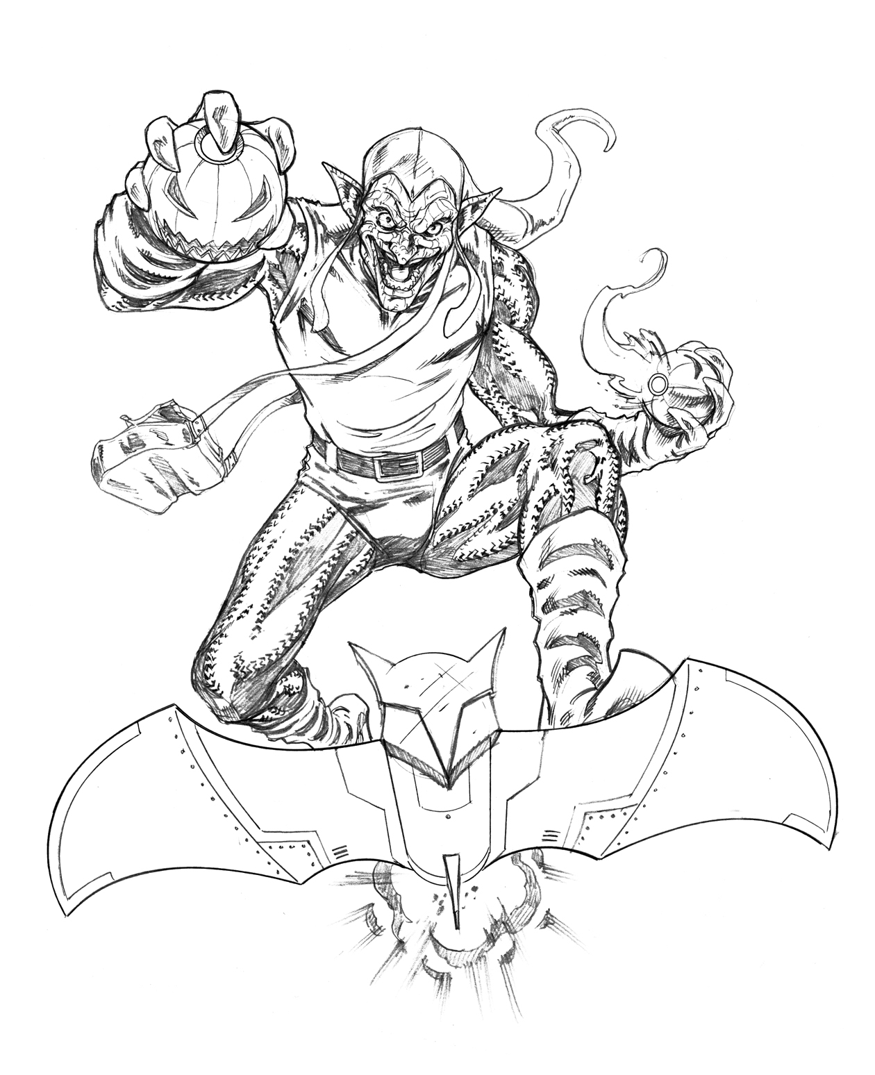 spiderman 3 coloring pages new goblin models | Green Goblin box art by sketchpimp on DeviantArt