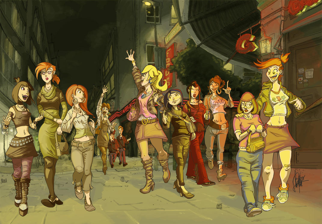Girls' Night Out by TheArtrix