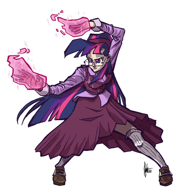 Twilight's magic attack by TheArtrix