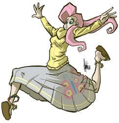 Jumpin' Fluttershy by TheArtrix