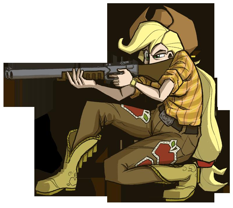 Shotgun Applejack by TheArtrix