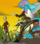[commission] Biker Celestia