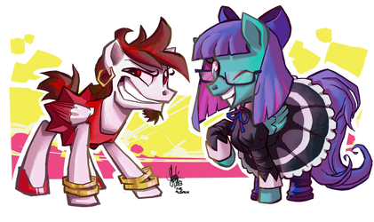 [commission] Nightmare Night, bitches! by TheArtrix