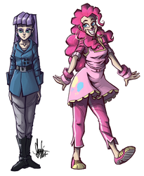 Maud 'n' Pinkie by TheArtrix