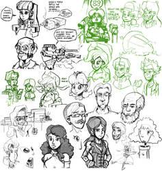 Sketch dump #16 by TheArtrix