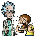 Morty and Rick by TheArtrix
