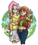 Fluttershy and Tree Hugger