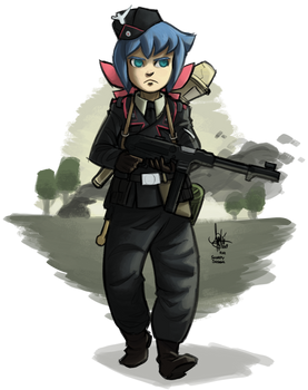 [commission] Little Panzer Academia