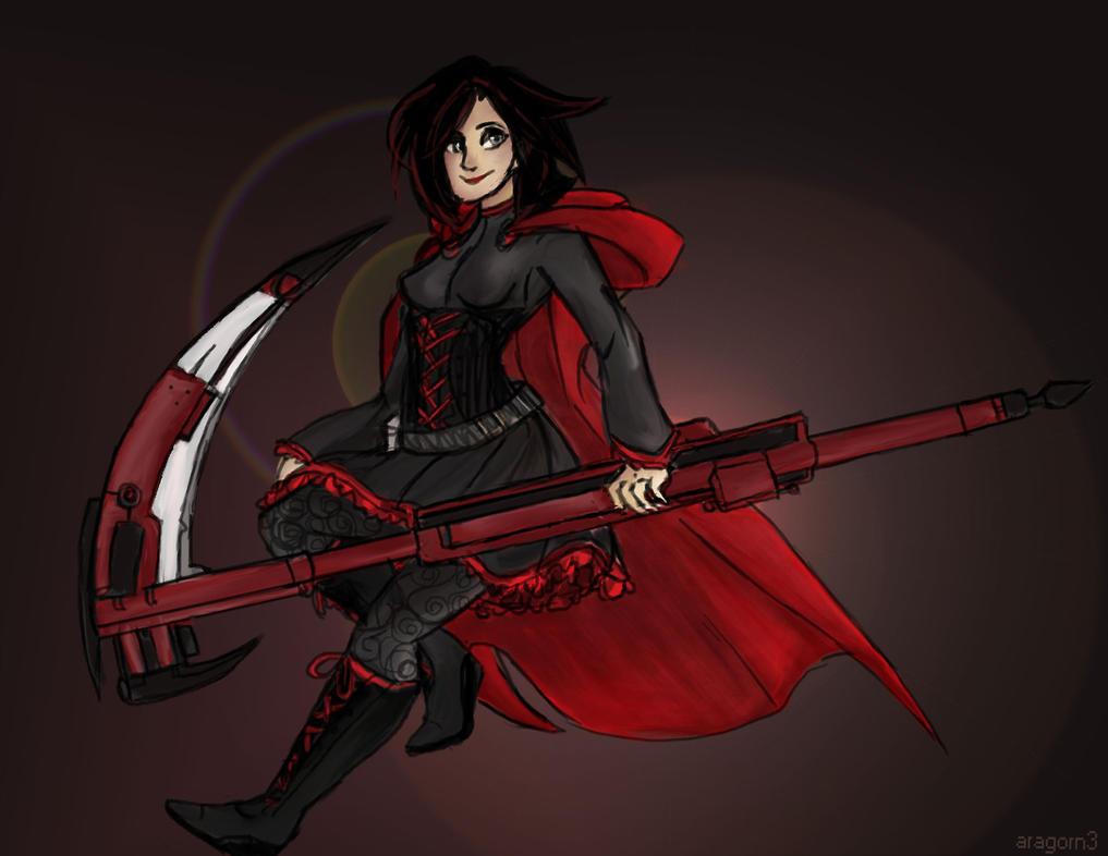 rwby Ruby rose by aragorn3
