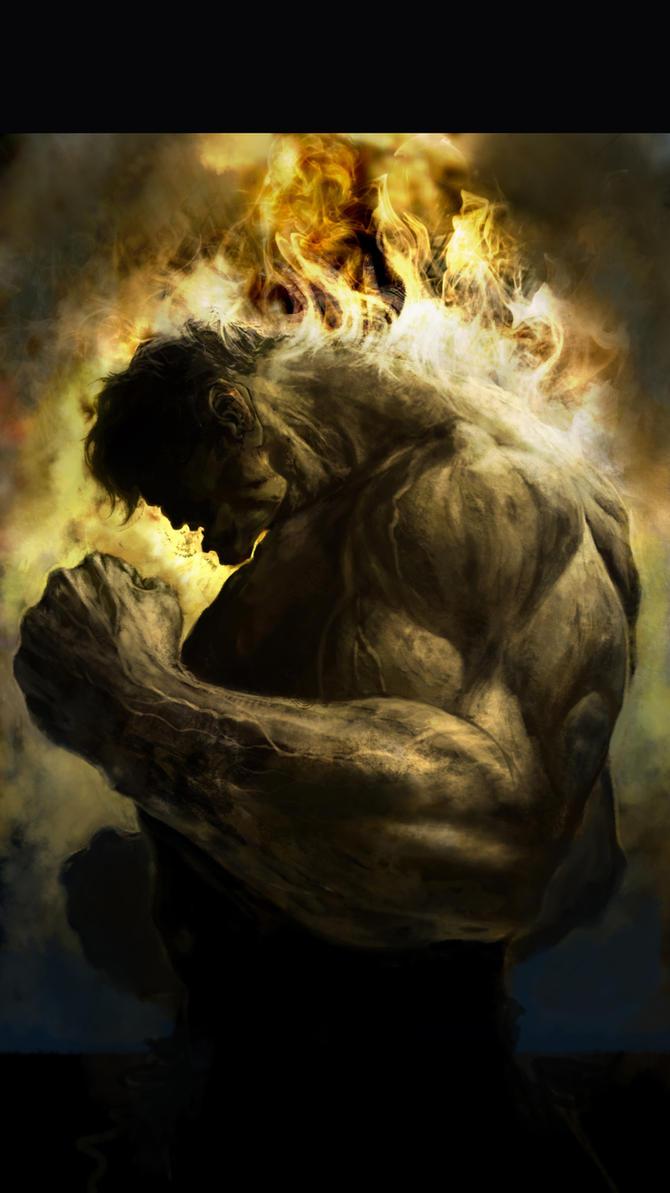 burning rage by derylbraun