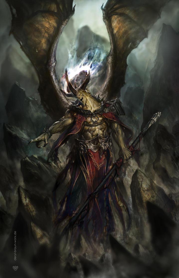 demon priest by derylbraun