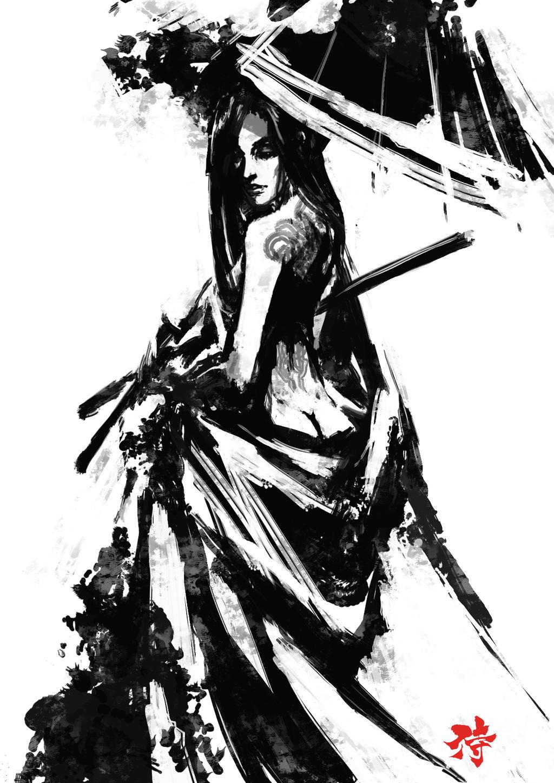 Samurai Spirit Sumi 5 by derylbraun