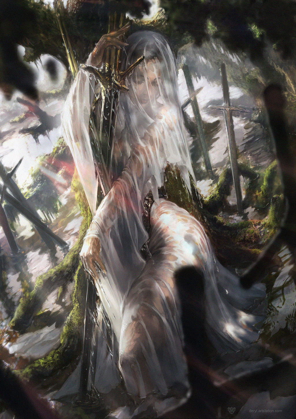 Siren of swords by derylbraun