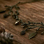 Bronze branch necklace by Curionomicon