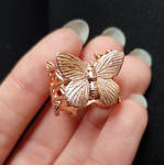 Electroformed butterfly ring - WIP by Curionomicon