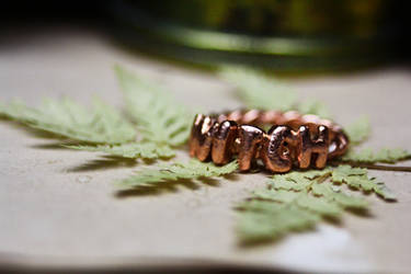 Copper witch ring