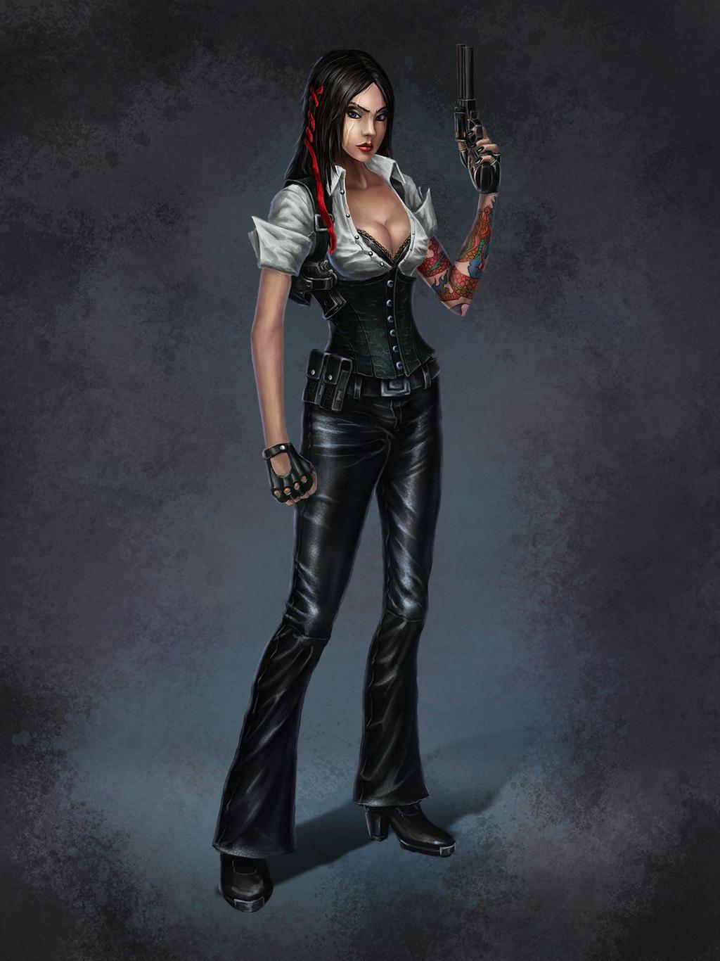 Gangster girl by dima-sharakGangsta Artwork