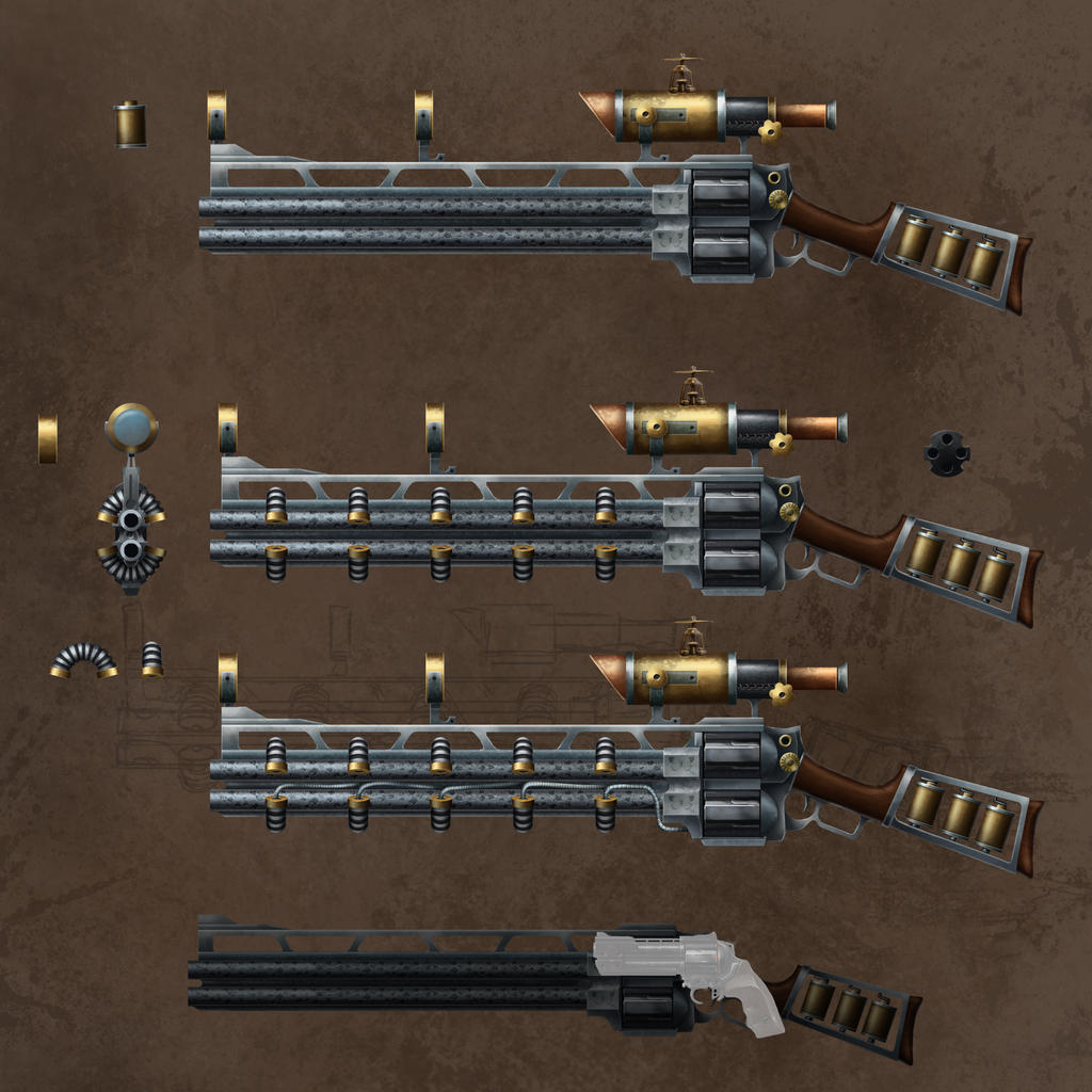 Sniper rifle steampunked by Sharrak