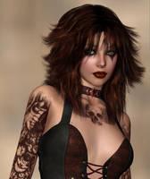 Tattooed Goth by leginr
