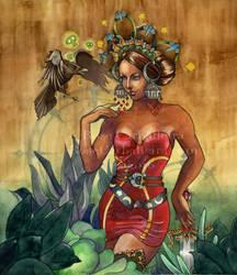 Queen of Swords by RoseCarballeira