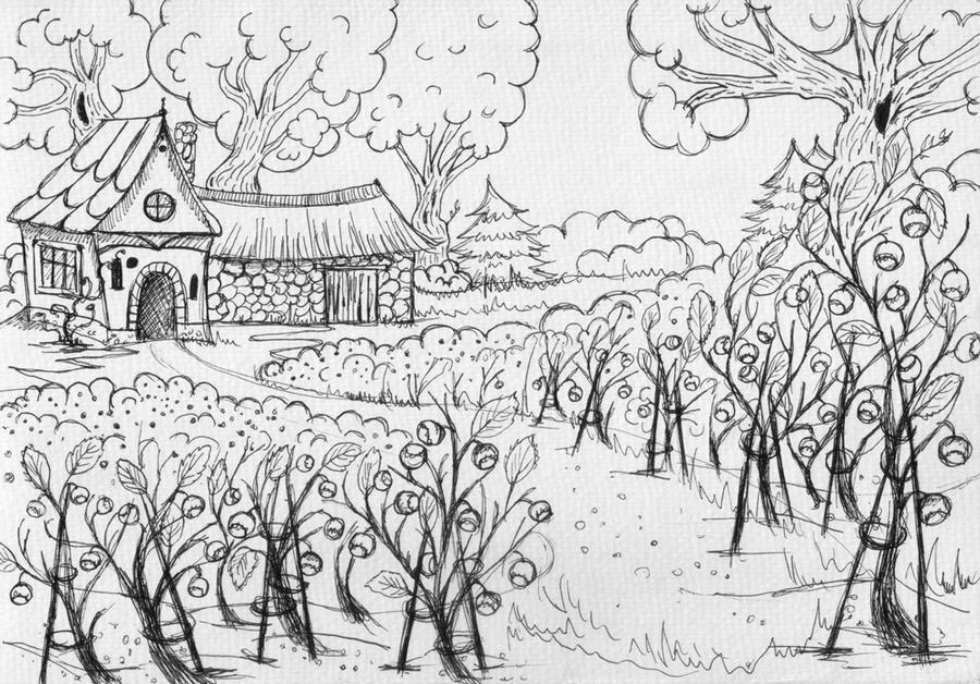 Bilberry plantation-ConceptArt by Verine