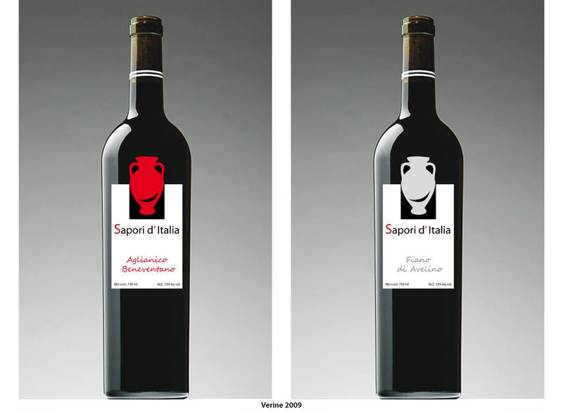Wine label by Verine