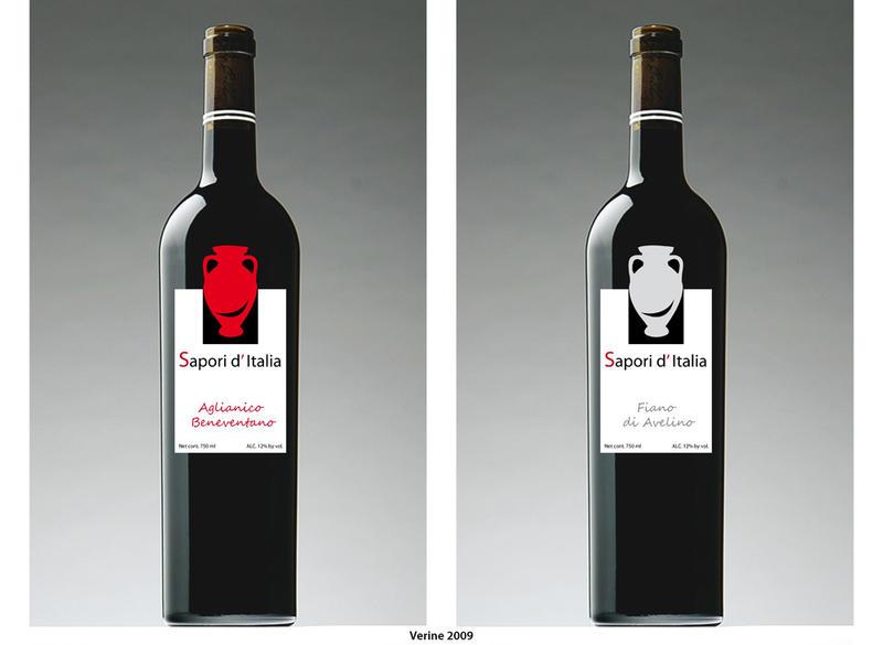 Wine label by Verine