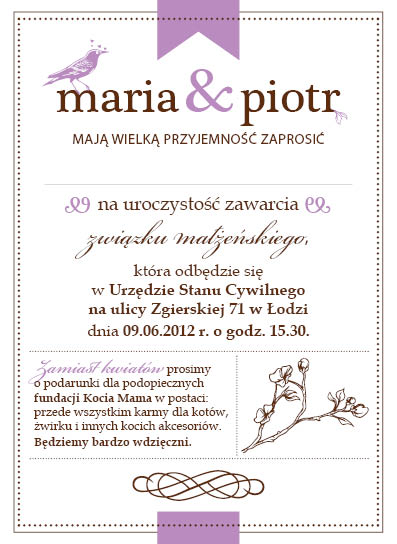 Wedding Invitation by Verine