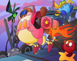 Kirby Robobot Ride by MixedUpMagpie