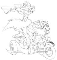 A Dog and His Hog by FireCatRich