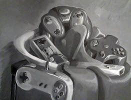 Gamer's Still Life by FireCatRich