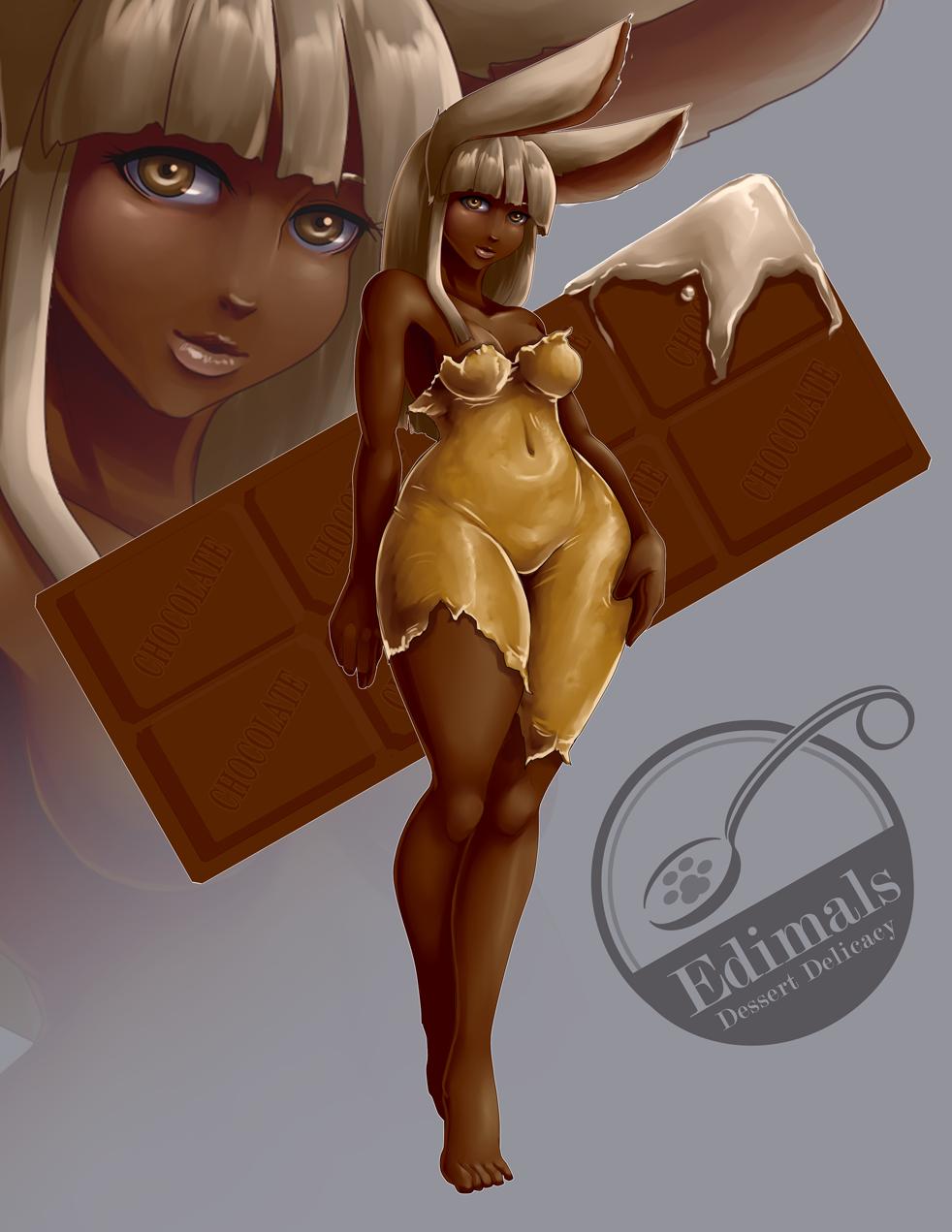 Edimals - Milk Chocolate Rabbit (SOLD) by FireCatRich