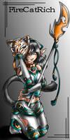 Imaginary Flower Fire Cat by FireCatRich