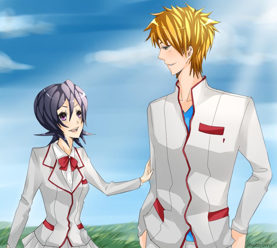Ichigo And Rukia by p1z