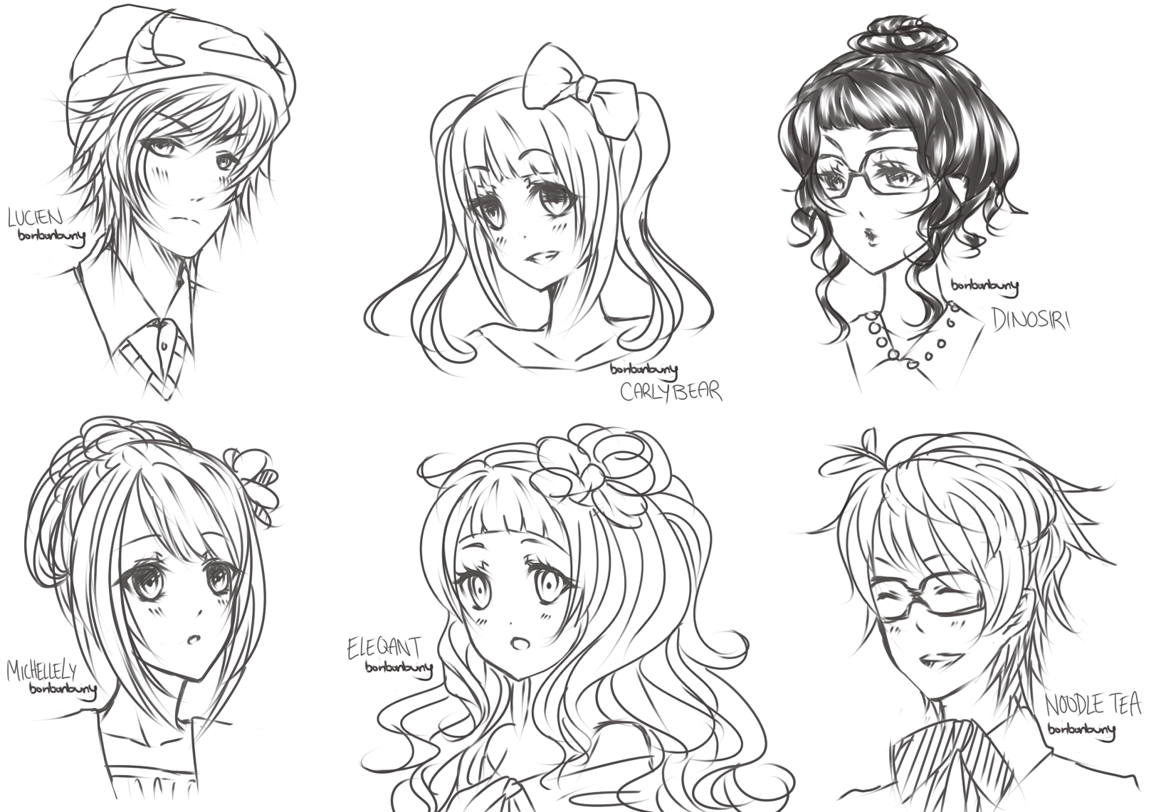 LINEPLAY (free sketches) by Miivei