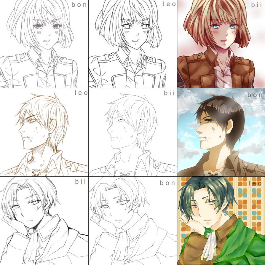 Switcharound Meme (bon-leo-bii) Attack on Titan by Miivei