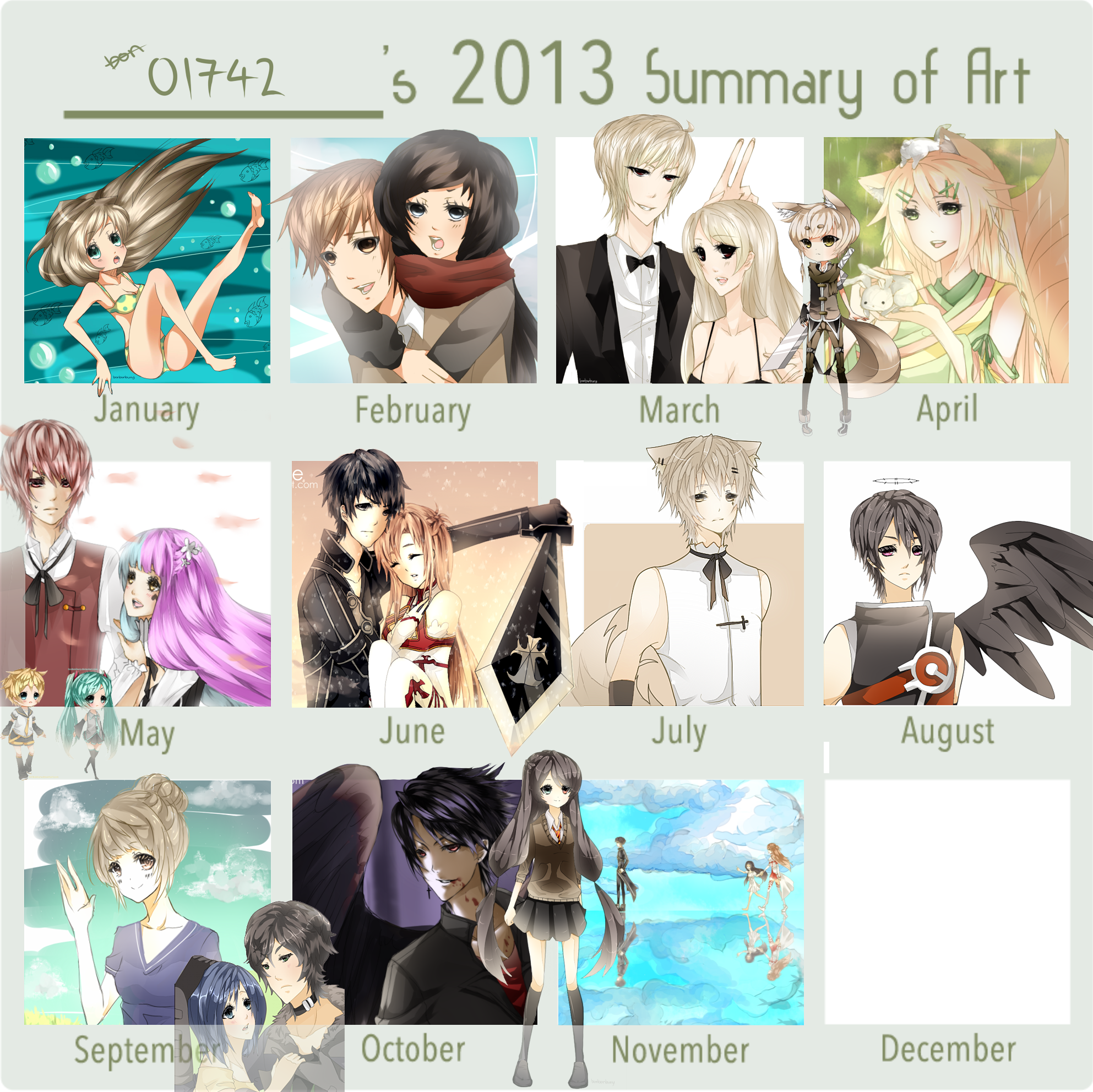 2013 ART SUMMARY by p1z