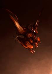 Draco volando by VictorFores
