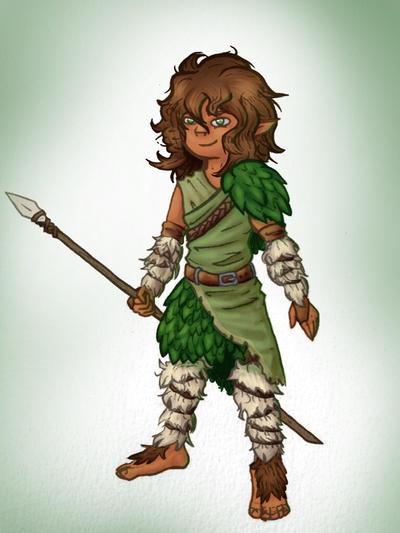 Halfling Druid by Knight-Elkwarden