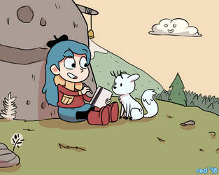 Hilda on a Hill by starshipred