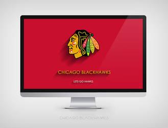 Chicago Blackhawks Minimalist 4K Wallpaper