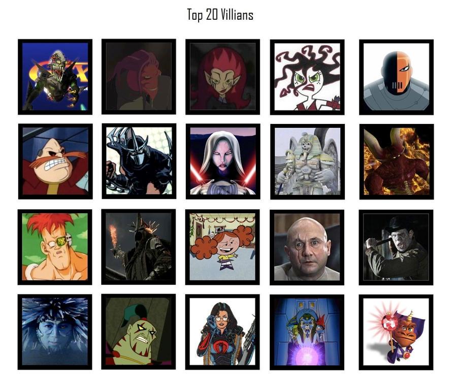 Tito's Top 20 Villains by Tito-Mosquito