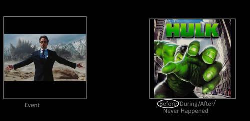 Tony's Missile Presentation take place before Hulk