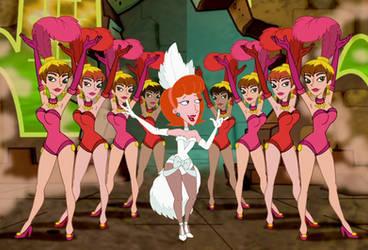 Linda with Dancing Girls