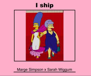 I ship Marge Simpson x Sarah Wiggum