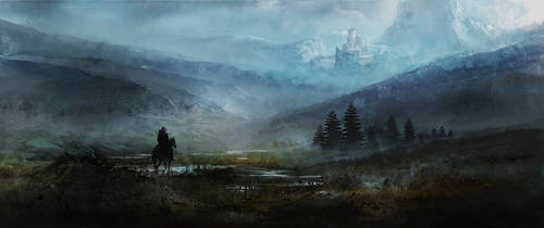 Misty Mountains by ecsian