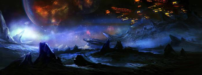 Alien planet base by ecsian